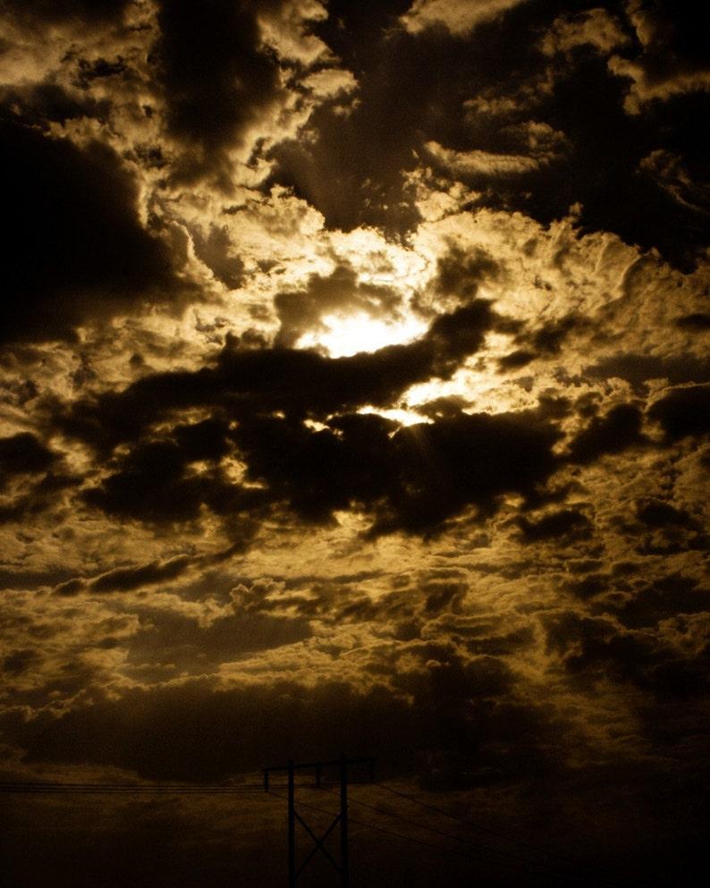 Photograph Dramatic Dark and Stormy Sepia Iran Persian Cloudy image 0