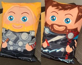 Double sided Thori 'Hero Hugger' Decorative Pillowcase Custom Design Super Hero