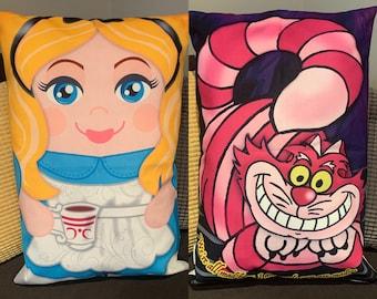 Alice Cheshire Cat 'Hero Hugger' Decorative Pillowcase Custom Design Fairytale