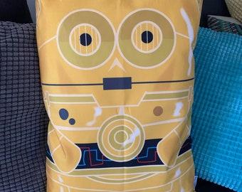 C3PO 'Hero Hugger' Decorative Pillowcase Custom Design R2D2