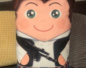 Han Solo inspired 'Hero Hugger' Decorative Pillowcase Custom Design Star Wars