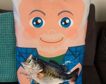 Jeremy Fishing Monster Character Pillow Case Double Sided 16x 24 UNIQUE