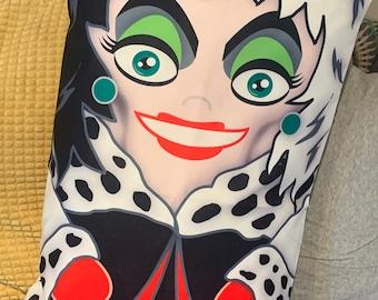 Cruella Deville 'Hero Hugger' Pillowcase Toy Custom Design new