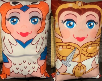 Teela and The Sorceress  'Hero Hugger' Decorative Pillowcase Custom Design masters