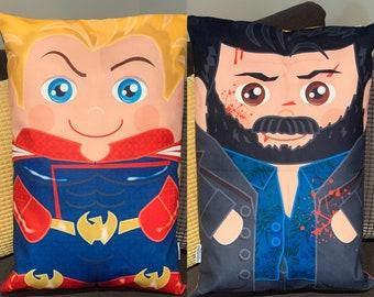 The Boys Homelander Billy Butcher 'Hero Hugger' Decorative double sided Pillowcase Custom Design