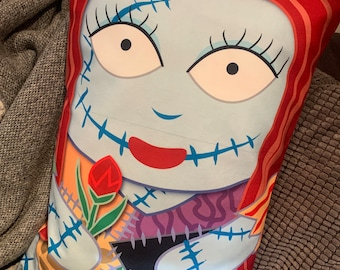 Print defect**** Sally nIghtmare before Christmas Character Pillow Case Double Sided 16x 24 UNIQUE **discounted**