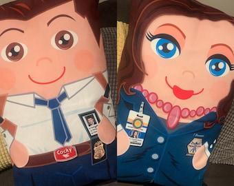 Bones Tv Show Booth 'Hero Hugger' Decorative Pillowcase Custom Design Double Set!