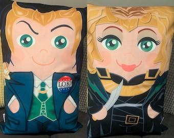Loki and Sylvie 'Hero Hugger' Decorative Pillowcase Custom Design