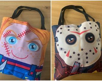 Chucky and Jason 'Hero Hugger' Slasher Tote Bag Custom Design