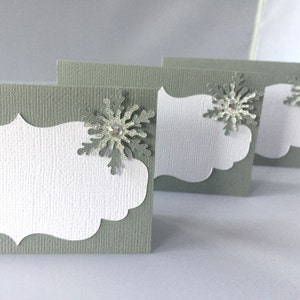 Winter Party Food Tents Snowflake Place Cards Winter Wonderland Party Snowflake Food Tents. QTY. 10
