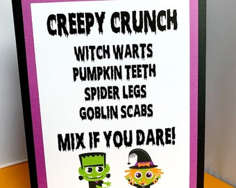 Halloween Party Sign, Personalized Halloween Birthday Party Decoration, Menu Sign, Welcome Sign