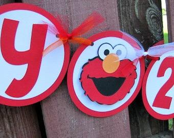 Elmo Party Banner, Elmo Birthday Party, Elmo Happy Birthday Banner, Sesame Street Banner, Elmo 2nd Birthday, Elmo 1st Birthday Banner
