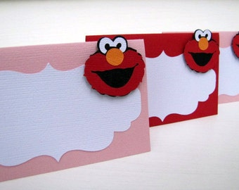 Elmo Party Food Tent Cards, Elmo Place Cards, Elmo Girl Party, Elmo Birthday Party, Girl Elmo Birthday, Girl Elmo Food Labels, Set of 10