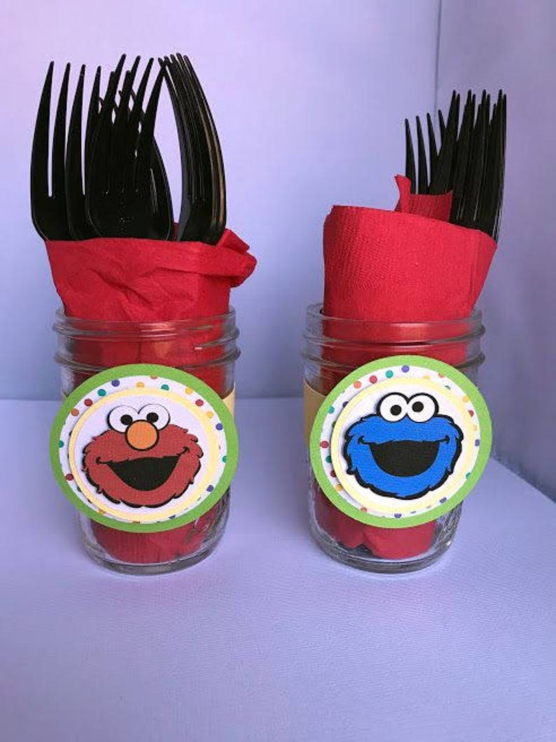 Sesame Street Party Wraps Jar Wraps Bottle Wraps Sesame Etsy