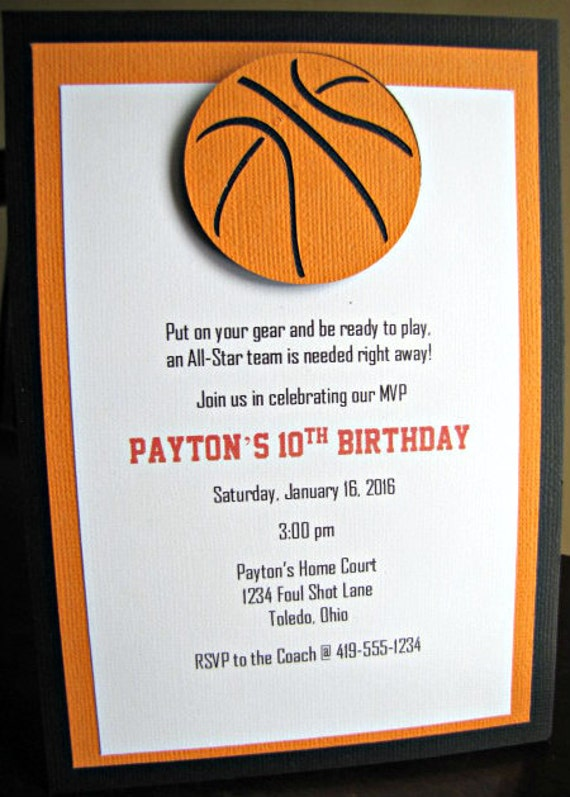 basketball party invitations basketball birthday party etsy