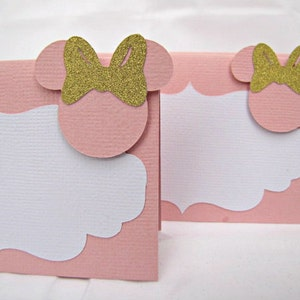 Minnie Mouse Food Tent Cards Minnie Mouse Birthday Party Etsy