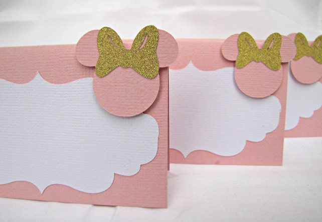 Minnie Mouse Place Cards Food Labels Buffet Baby Shower