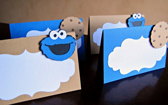 Cookie Monster Place Cards Cookie Monster Food Labels Cookie Etsy