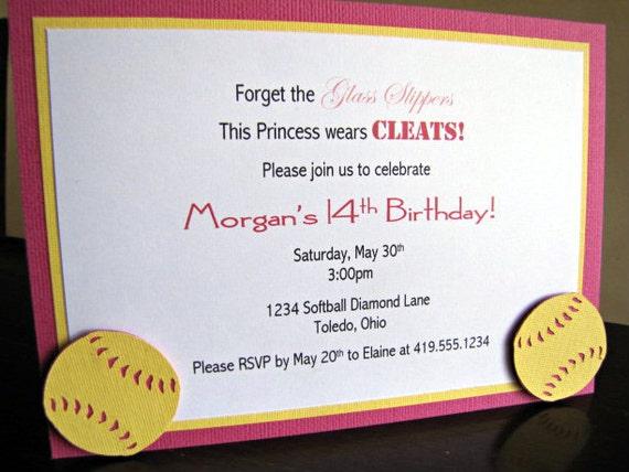 softball party invitations softball birthday party invitation