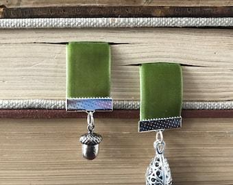 Spellbound Forest Velvet Ribbon Bookmark with Oil Diffuser