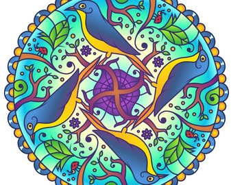 Wreath Mandala Etsy