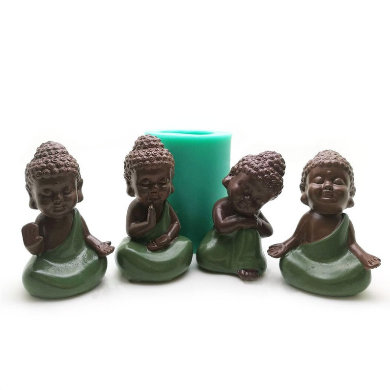 3D Buddha Statue Silicone Mold Handmade Buddha Statue Soap Mould Baking  Decorative Cake Tools Candle