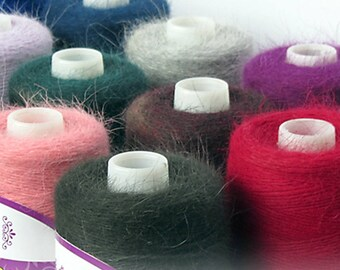 100G/Roll High Quality Fall and Winter Mink Cashmere Yarn for Knitting Wool Yarn Mink Yarn