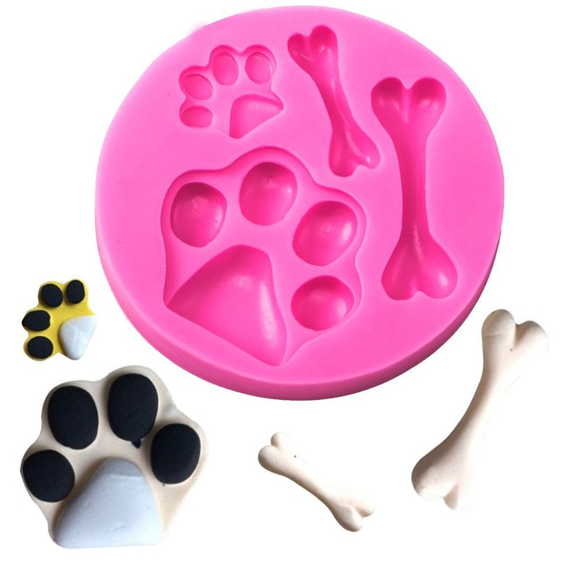 Dog a Bon Shaped DIY Fondant Cake Silicone Moulds Chocolate Jelly Pastry  Candy Cupcake Decoration Kitchen Clay Baking Tools