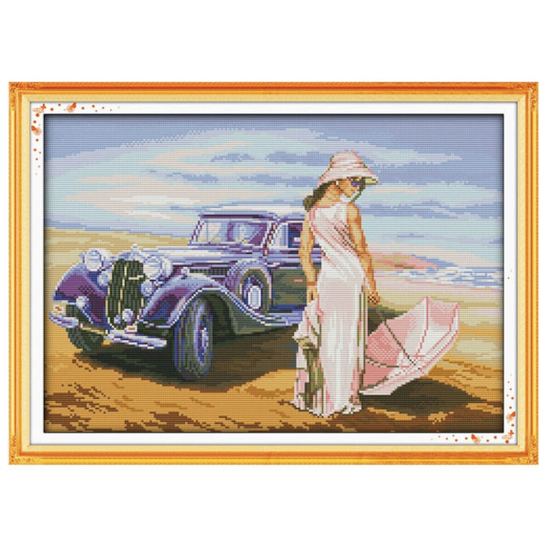 Car Model Patterns Counted Cross Stitch 11CT 14CT Cross Stitch Sets Chinese Cross-stitch Kits Embroidery Needlework