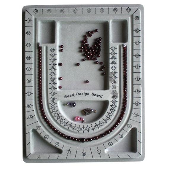 Bead Board Bracelet Necklace Beading Tray Jewelry Design Making DIY Organiser