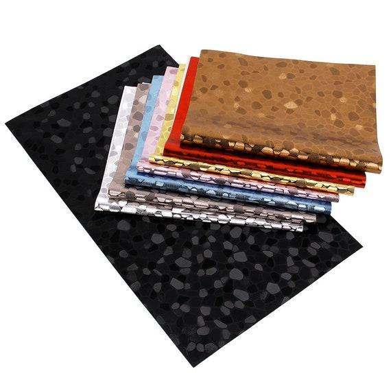 About 2034cm Gold Foil Tripe Grid Argyle Synthetic Leather  42ae80a7d1f4