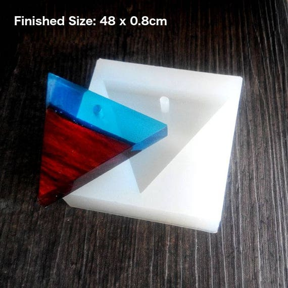 1pcs Perforated Triangular Liquid Silicone Mold DIY Resin Jewelry Pendant  Necklace Pendant Lanugo Mold Resin Molds for Jewelry