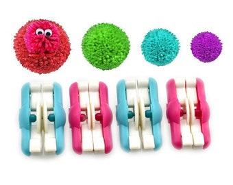 2pcs/lot Mini Pompom Pom-pom Maker for Fluff Ball Weaver Needle Craft DIY Wool Knitting Craft Tool Set Decoration