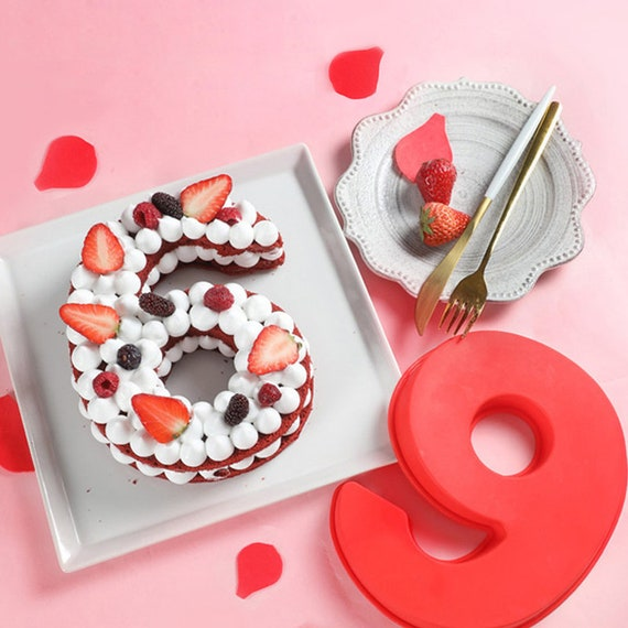 3D 0-9 Number Fondant Chocolate Sugarcraft Mould Cake Decor Silicone Mold ONE