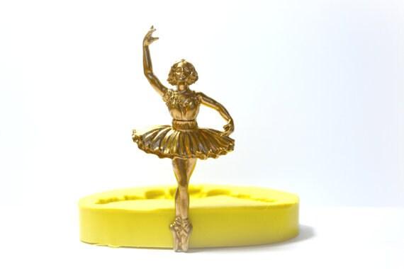 Silikon Form Fondant Formen Ballerina Silikon Gummi Flexible Lebensmittel sicher Form Ballett Mädchen für Kuchendekorationen