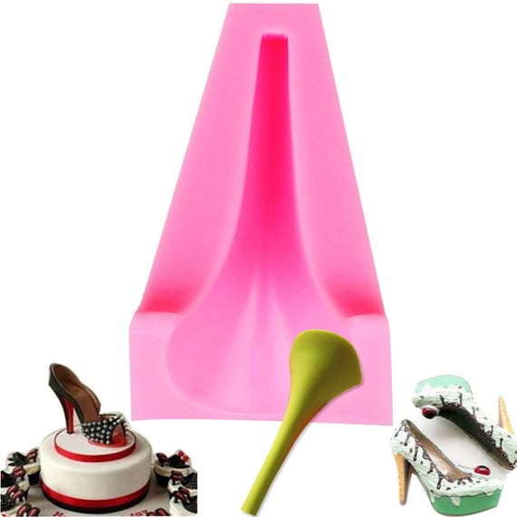 Ladies High Heel Boot Shoe Silicone Mould Sugarcraft Cake Topper Model ToolsUK