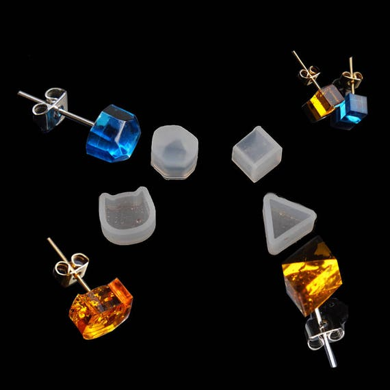 resin kit 10 iSuperb Silicon Resin Mold Set Casting Molud Tools DIY Jewelry Craft,Handmade Crystal Pendant Stud for Earrings and Key Chain