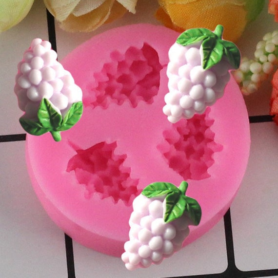 Silicone Grape Baking Mold Shape Fondant Cake Decorating Chocolate Soap DIY Home