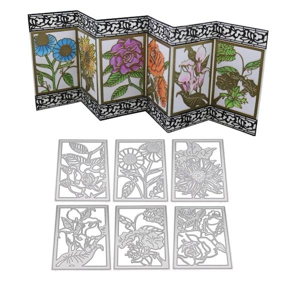 6Pcs Flowers Design Metal Cutting Dies For DIY Scrapbooking Album Paper Cards  R