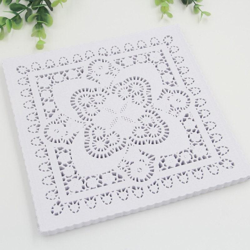 Créer et de l'artisanat 25,4 = cm = 25,4 10 pouces blanc carré papier napperons de dentelle Halloween mariage Noël décoration-100pcs/lot b01eb8