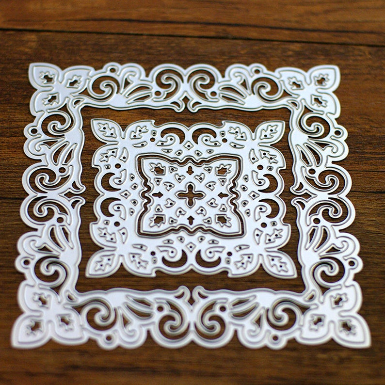 5 pcsset Square Lace Type Delicate Pretty Paper DIY Cutter Cutting Die Metal Material for Scrapbooking