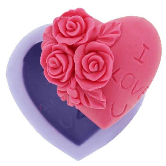 Free USA shipping Jewellery box silicone mold heart shaped storage box mold heart shaped silicone mould Fondant mold gumpaste mold