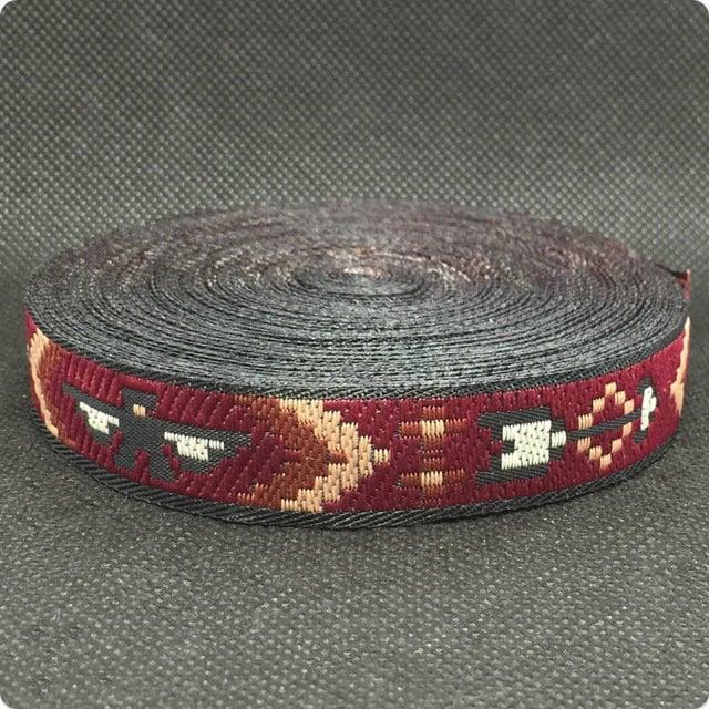 5/8 ' 16 mm 10 Bracelet yard/ensemble 100 % Polyester tissé Jacquard ruban vente Bracelet 10 accessoires d'ordinateur 069dac