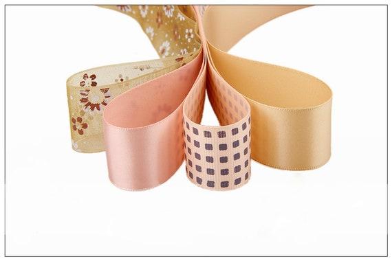 Ruban couleur champagne pour pour champagne bricolage fait à la main cadeau artisanat emballage cheveux accessoires mariage matériaux paquet Mix couleur 20pcs de haute qualité d72238