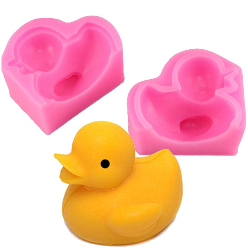 3D Duck Silicone Soap Molds Candle Mold DIY Baking Cake Chocolate Candy Ice Tool