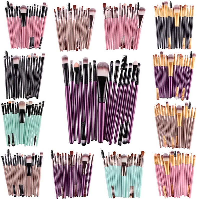 Pro 15Pcs/Kit Makeup Brushes Set Eye Shadow Brow Eyeliner image 0