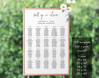 your seat awaits wedding seating chart printable seating etsy