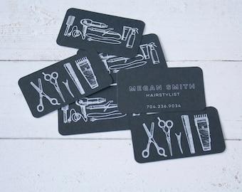 Hair salon cards etsy more colors 100 custom hairdresser business cards colourmoves