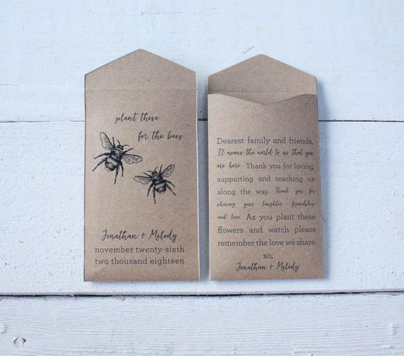 Pflanze Fur Die Bienen Paket Hochzeitsbevorzugungen Etsy