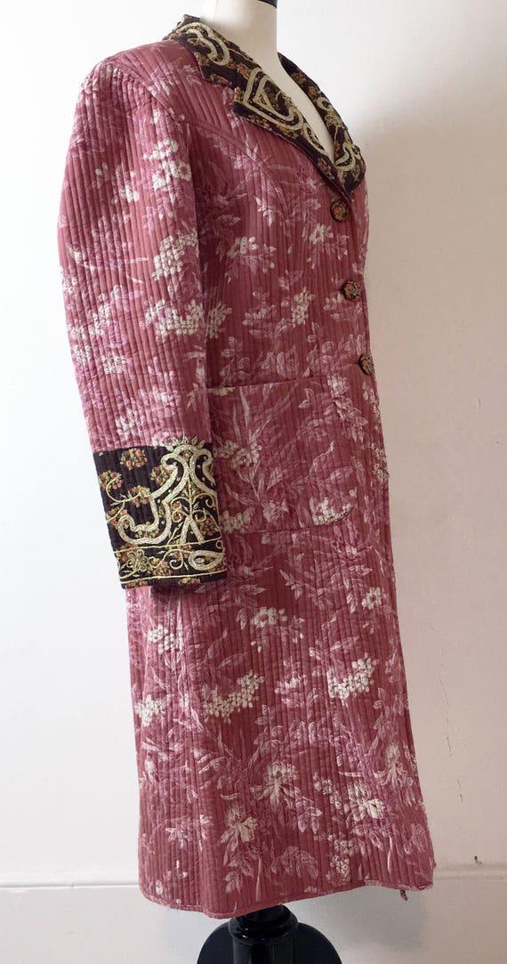 Vintage Cotton Long Quilted Coat Jacket. J. Peter… - image 2